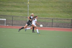 Freshman forward Kallie leads the counter attack