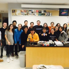 Seoyeong with the Science Olympiad team (Image courtesy of Seoyeong).